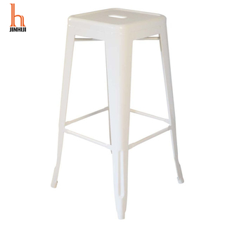 H Jinhui Backless Counter Height Metal Bar Stools