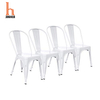 H Jinhui White Metal Dining Room Chairs
