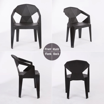 Creative geometric design for outdoor barbecue beer plastic chair