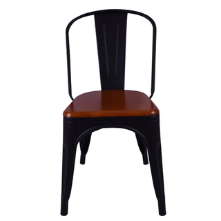 Modern style living room dining chairs Outdoor chairs metal cafe chairs Iron Metal 710111 Black