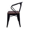Modern style living room dining chairs Outdoor chairs metal cafe chairs Iron Metal 710805 Black