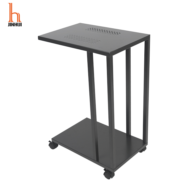 H Jinhui Small Wrought Iron Side Table Stainless Steel Side Table Coffee Table Metal Frame for living room