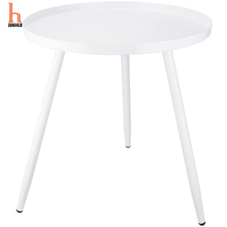 H JINHUI Small Round End Table Round coffee table Bed Side Table Lamp