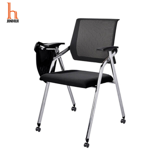 H Jinhui Foldable Training Room Chair Nesting Conference Chairs with Table Arm Desk