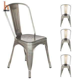 H Jinhui Vintage Metal Dining Chairs