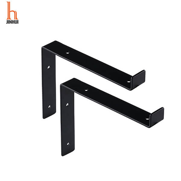 Amazon Hot Sell undermount Bracket Heavy Duty Powder Coated Shelf Angle Lip Shelf Bracket